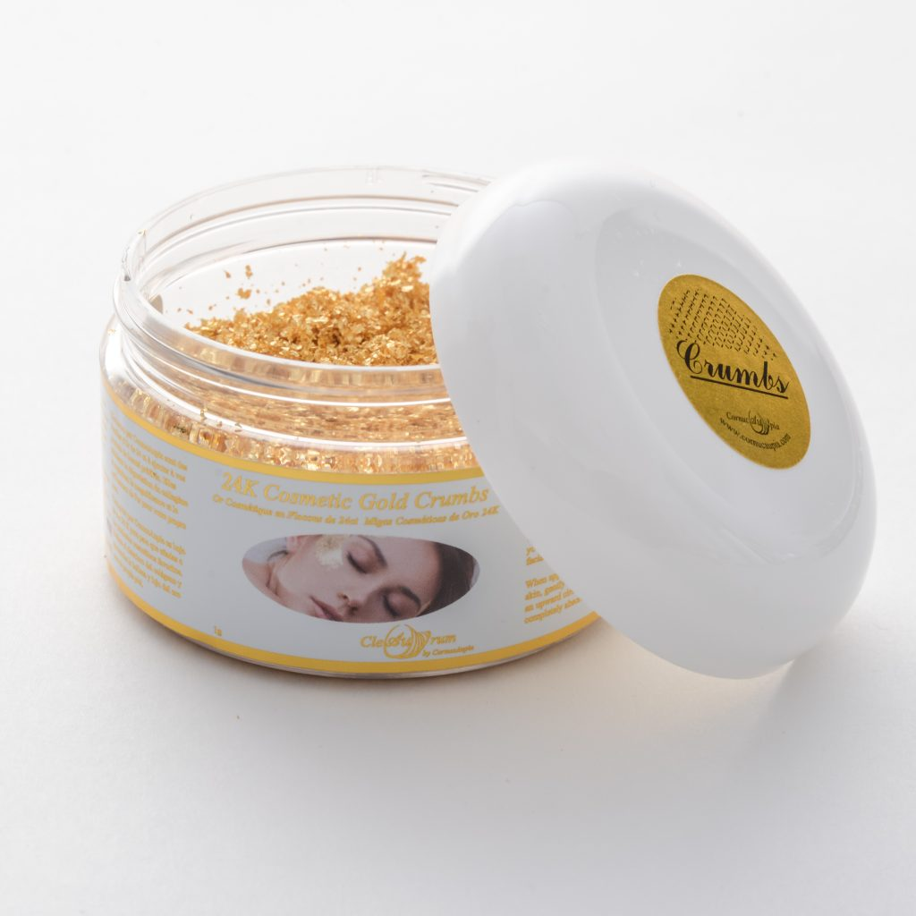 24K Gold Leaf for Cosmetic Creams and more.