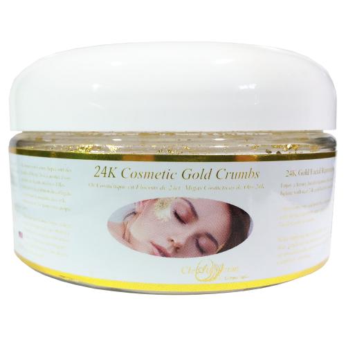 24K Gold Leaf Crumbs Facial Cream Additive in Big Jar