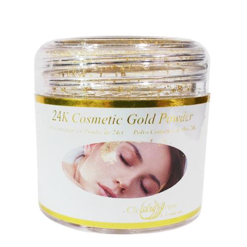24K Gold Leaf Powder Facial Cream Additive in Small Jar