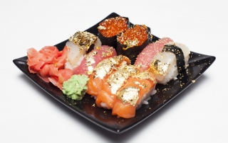 sushi 24k edible gold leaf sheets flakes