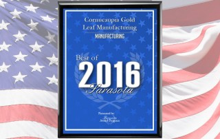 2016 Best Manufacturing Award Plaque CornucAupia