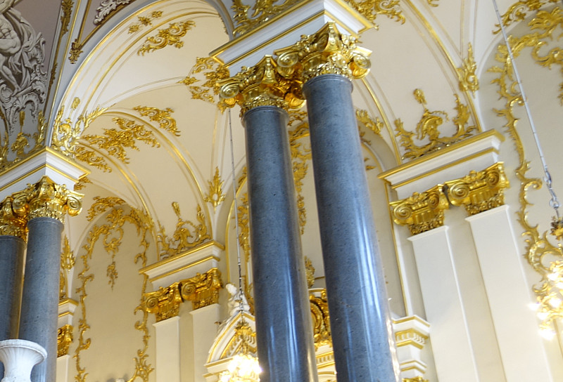 palace art cieling gilding gold marble
