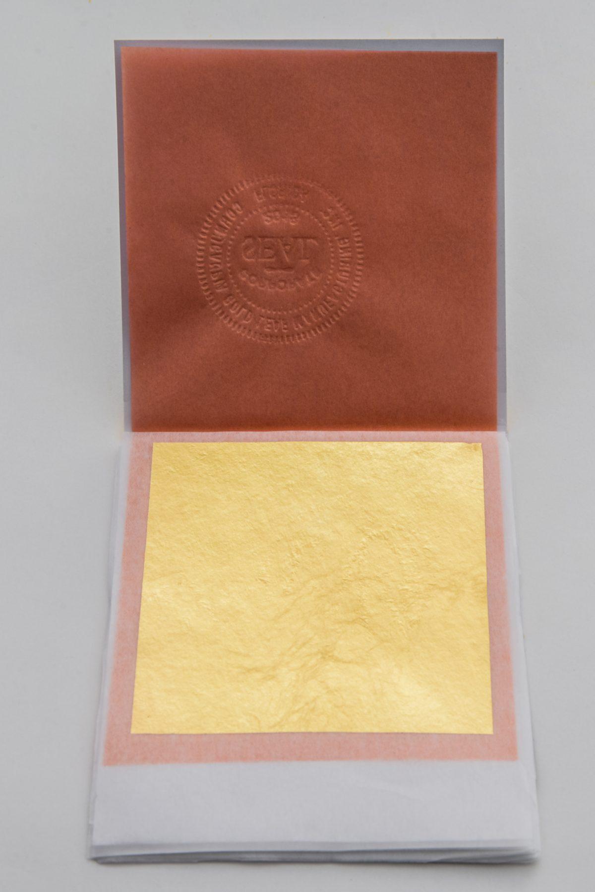 24K Edible Gold Leaf Sheets Transfer