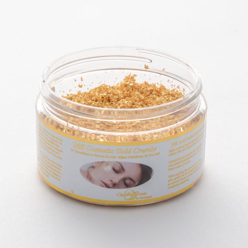24K Gold leaf powder for cosmetics.
