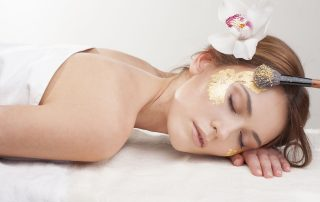 Spa Treatment Gold Leaf Application