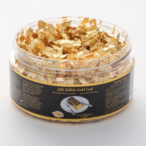 24K Edible Gold Flakes in Jar 1g